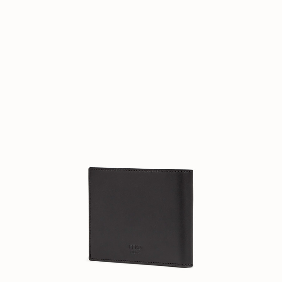 FENDI BI-FOLD WALLET - Black leather bi-fold wallet with exotic leather details - view 2 detail