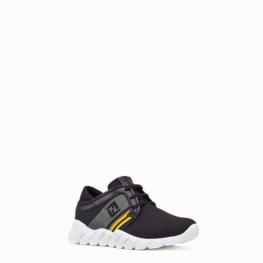 FENDI SNEAKERS - Black tech fabric sneakers - view 2 detail