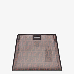 FENDI MEDIUM PEEKABOO DEFENDER - Brown mesh Peekaboo cover - view 3 thumbnail