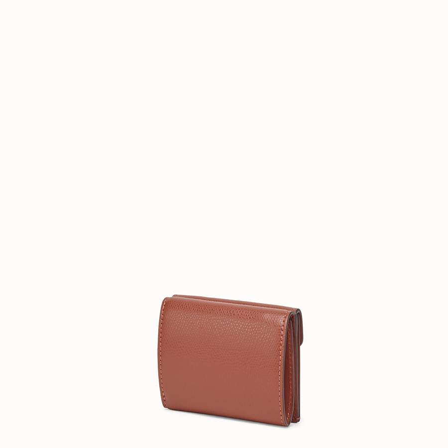 FENDI MICRO TRIFOLD - Brown leather wallet - view 2 detail