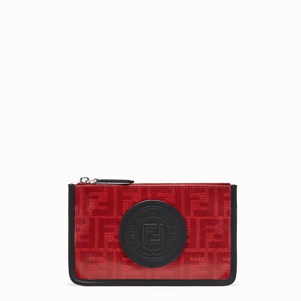 FENDI POUCH - Red fabric pochette - view 1 small thumbnail