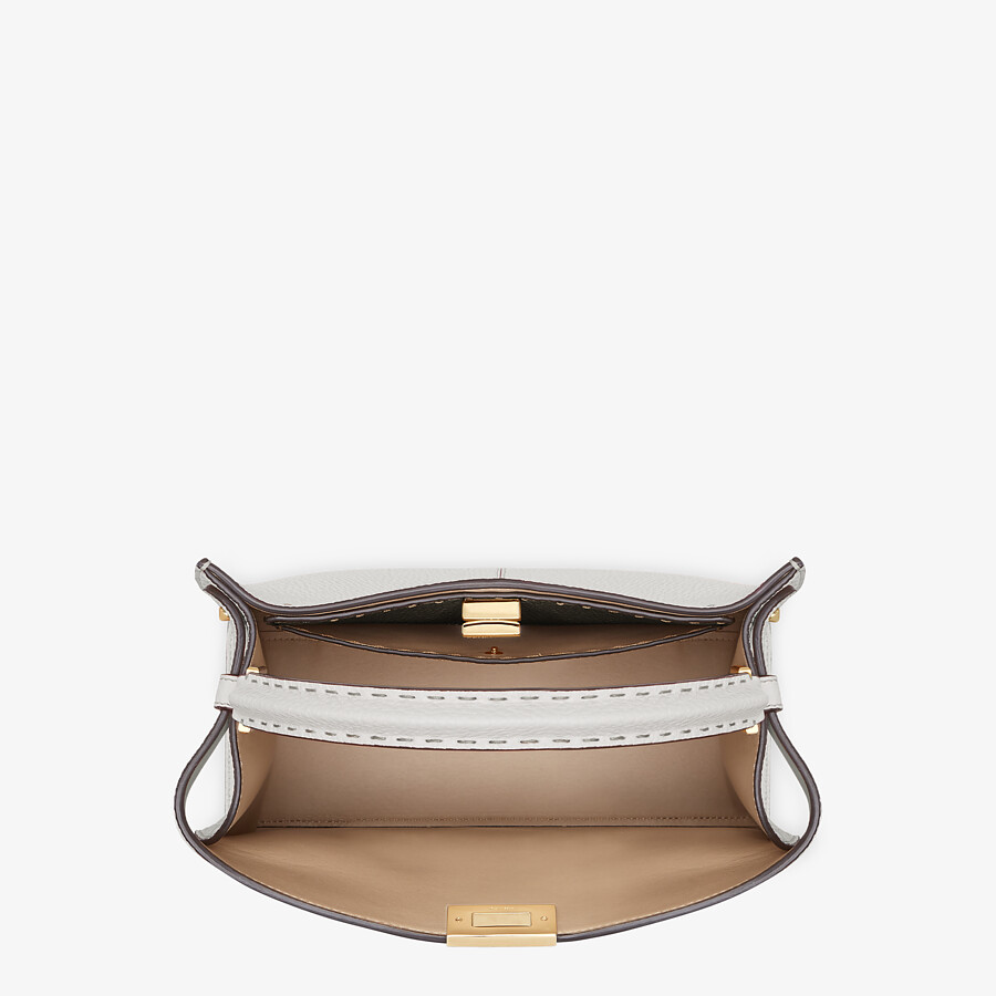 FENDI PEEKABOO X-LITE MEDIUM - Light gray Selleria bag - view 6 detail