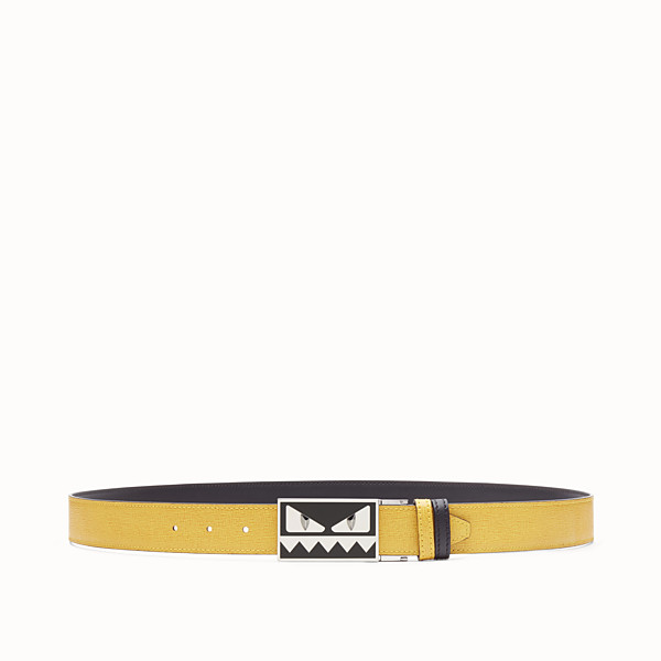 FENDI BELT - Reversible yellow and black belt - view 1 small thumbnail