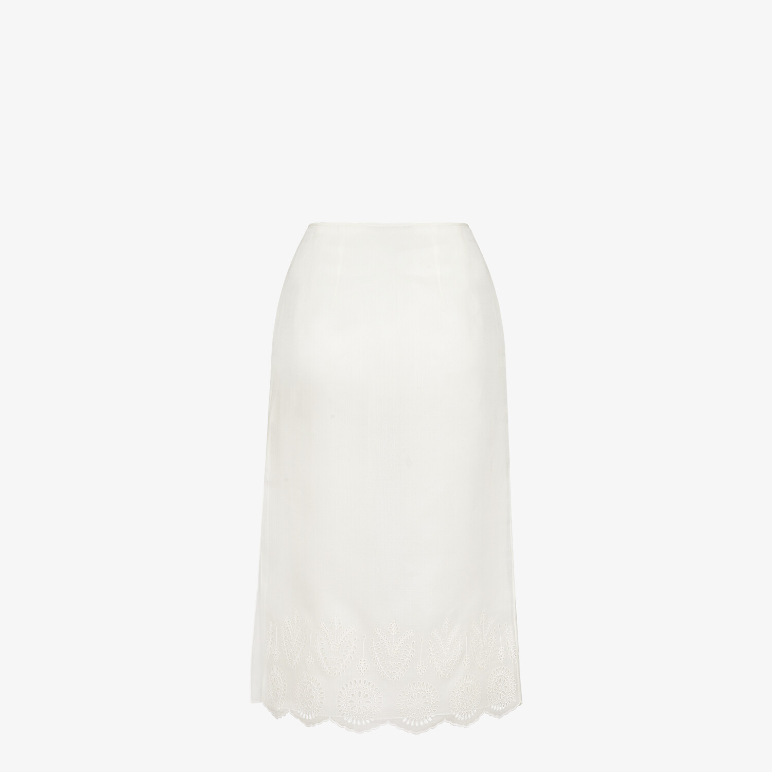 FENDI SKIRT - White silk skirt - view 2 detail