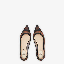 FENDI BALLERINAS - Mesh and black leather flats - view 4 thumbnail