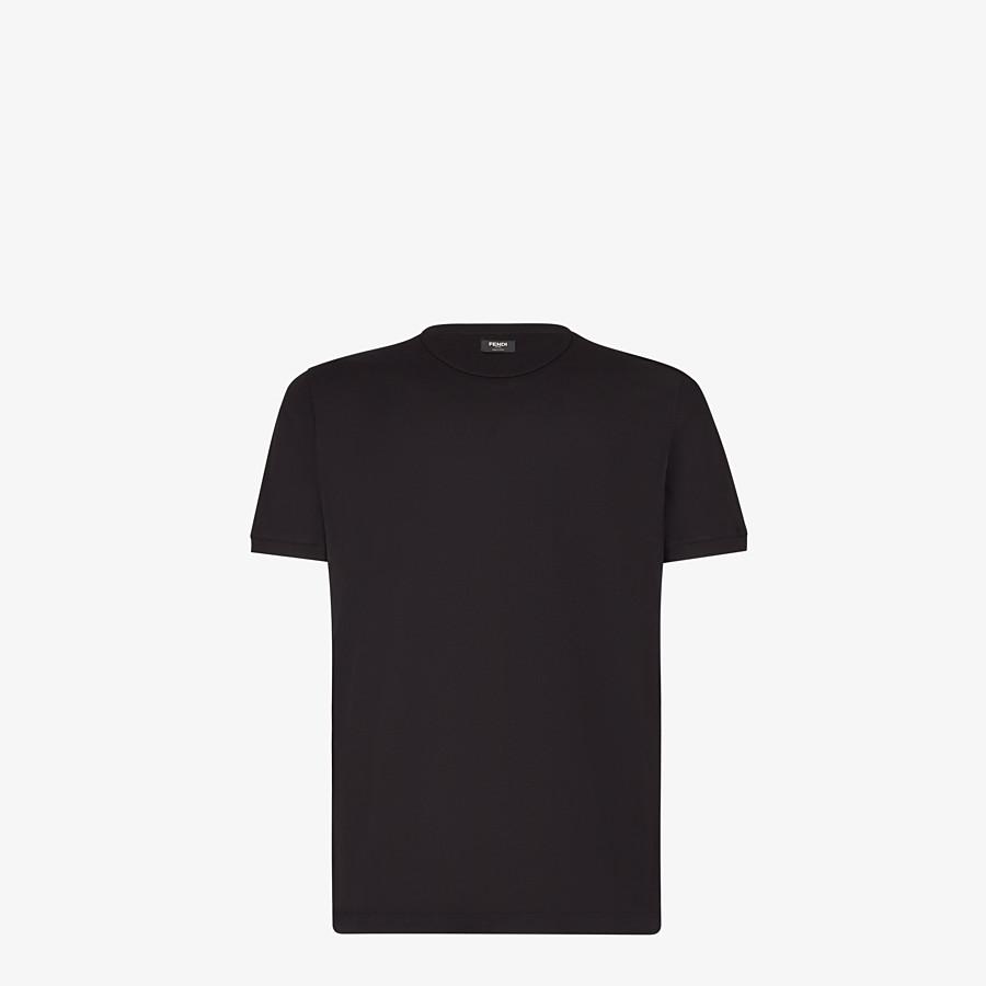 FENDI T-SHIRT - Black jersey T-shirt - view 2 detail