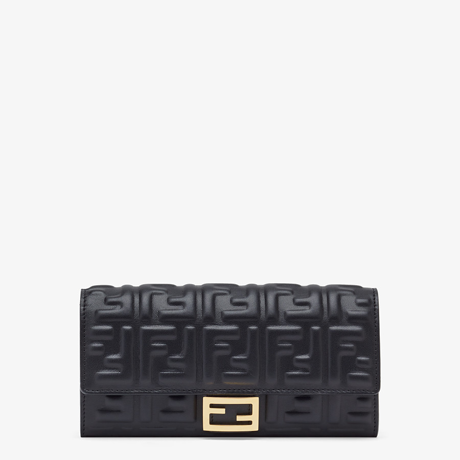 FENDI CONTINENTAL - Black nappa leather wallet - view 1 detail