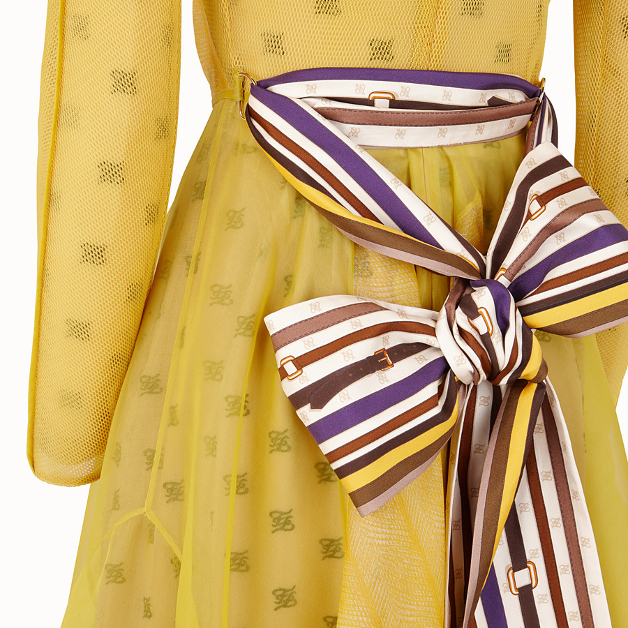 FENDI KLEID - Kleid aus Organza in Gelb - view 3 detail