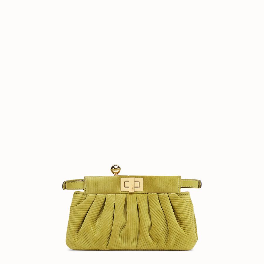 FENDI PEEKABOO CLICK - Small green suede bag. - view 4 detail