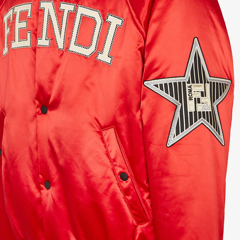 FENDI BOMBER - Red satin jacket - view 4 detail