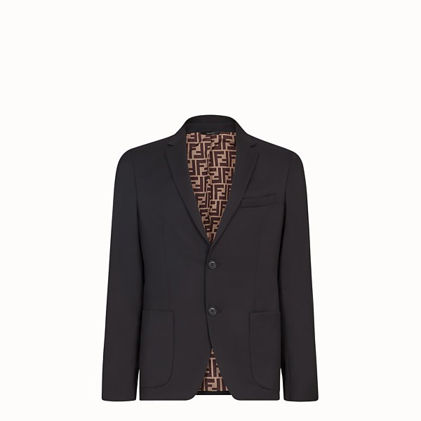 FENDI JACKET - Black wool blazer - view 1 small thumbnail