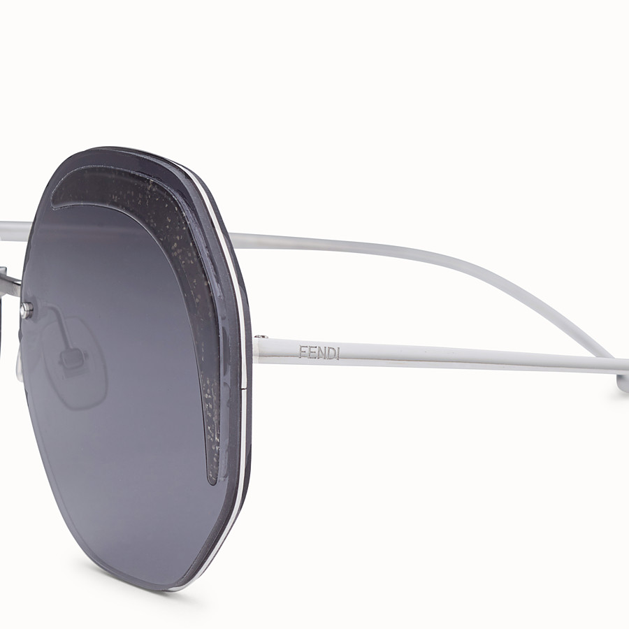 FENDI FENDI GLASS - Ruthenium-coloured sunglasses - view 3 detail