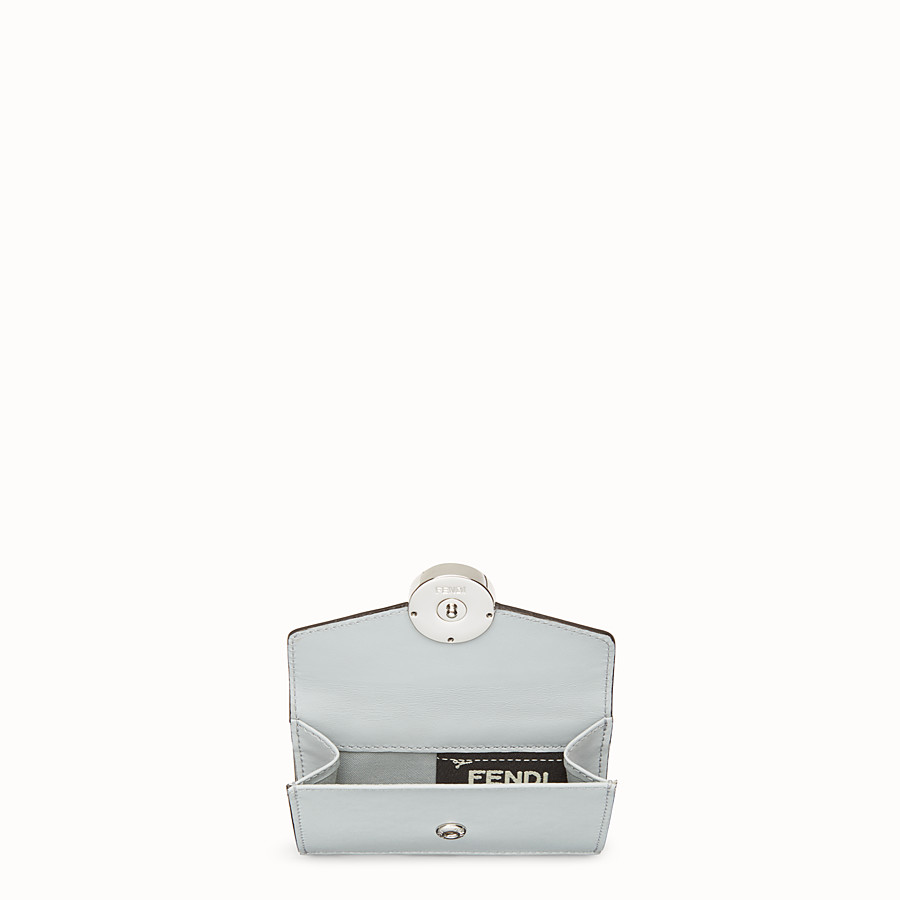 FENDI MICRO TRIFOLD - Gray leather wallet - view 4 detail