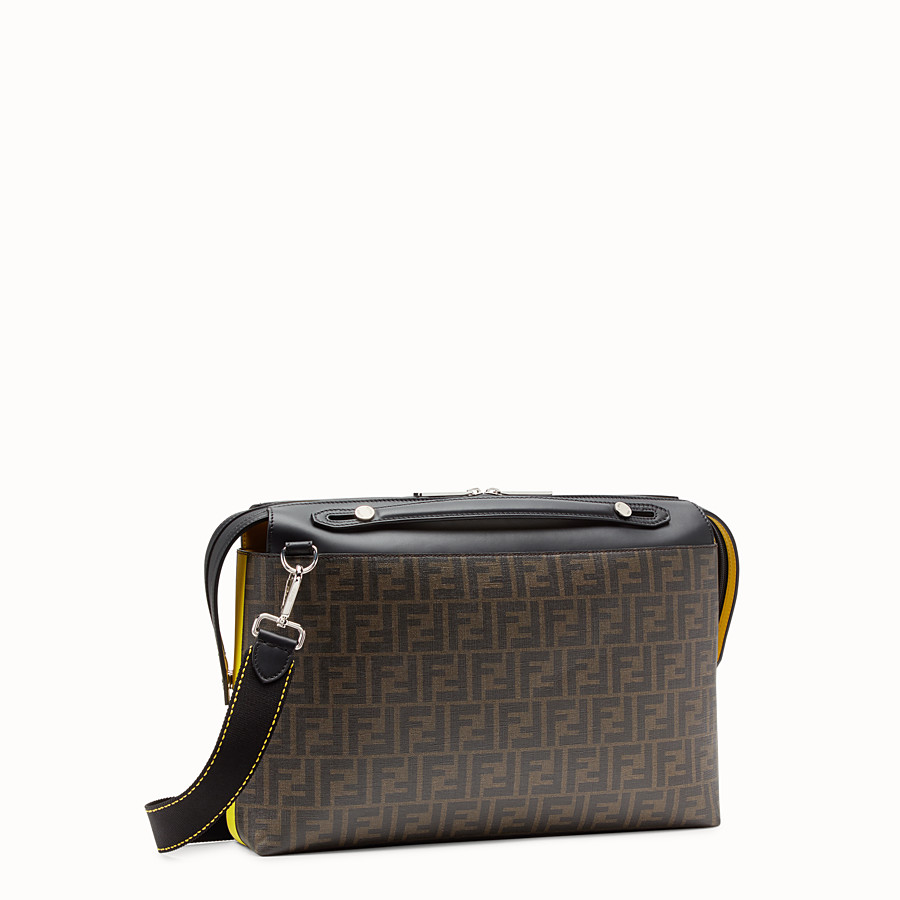 FENDI BY THE WAY - Brown fabric bag - view 2 detail