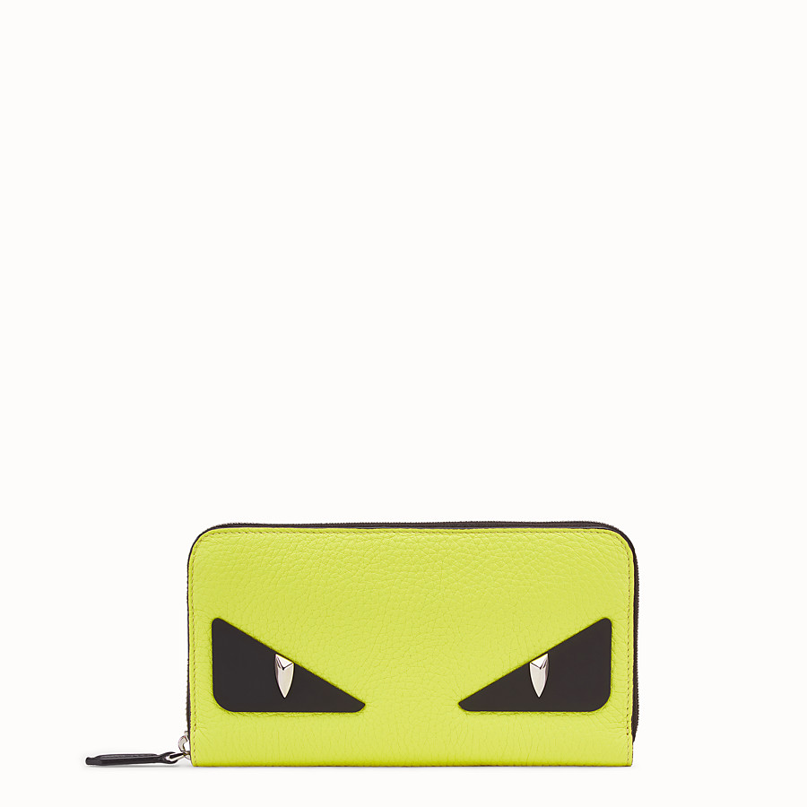 FENDI ZIP-AROUND - Yellow Romano leather wallet - view 1 detail