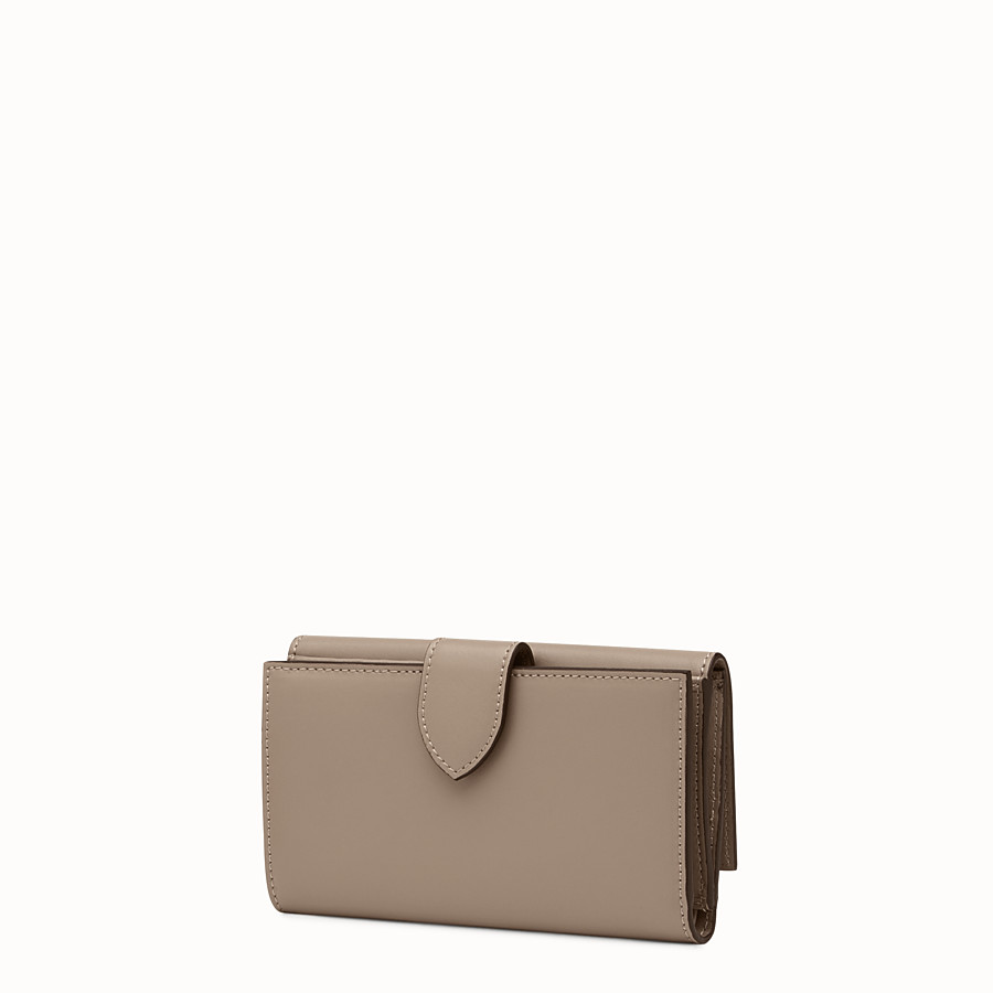 FENDI CONTINENTAL MEDIUM - Grey leather wallet - view 2 detail