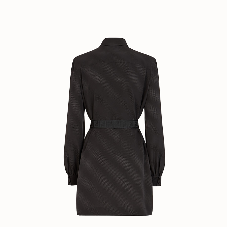 FENDI DRESS - Black silk dress - view 2 detail