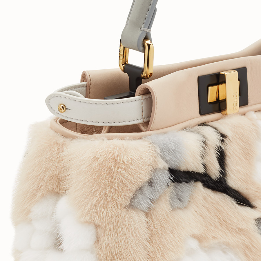 FENDI PEEKABOO MINI - Multicolour mink bag - view 6 detail
