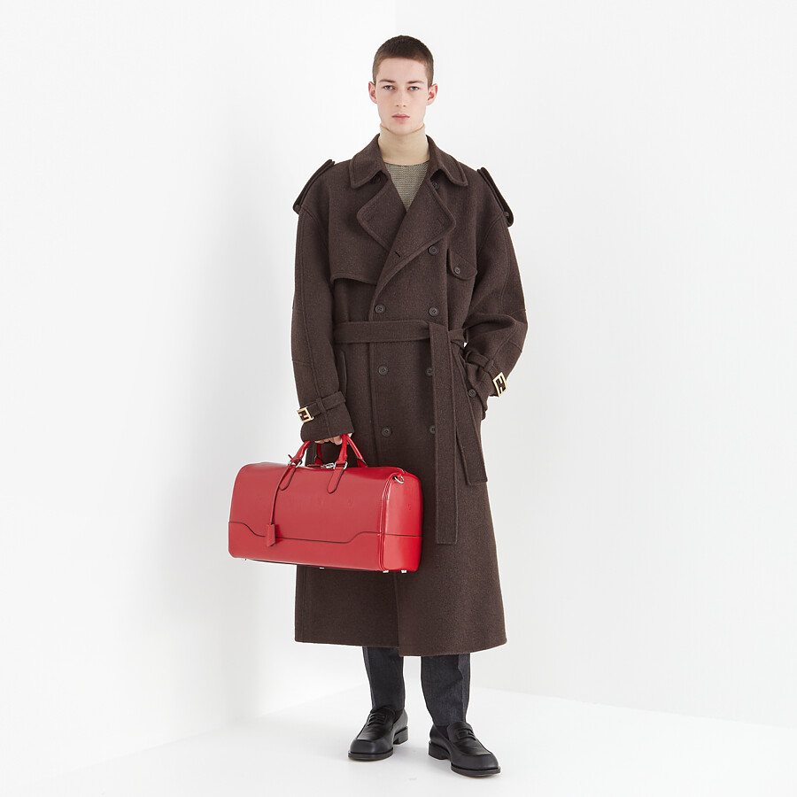 FENDI TRENCH COAT - Brown cashmere trench coat - view 5 detail