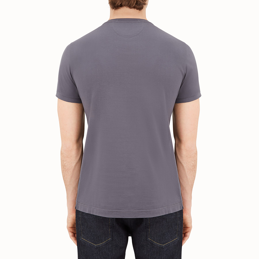 FENDI T-SHIRT - Gray jersey T-shirt - view 2 detail