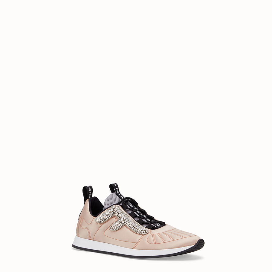 FENDI SNEAKERS - Sneaker aus Satin in Rosa - view 2 detail