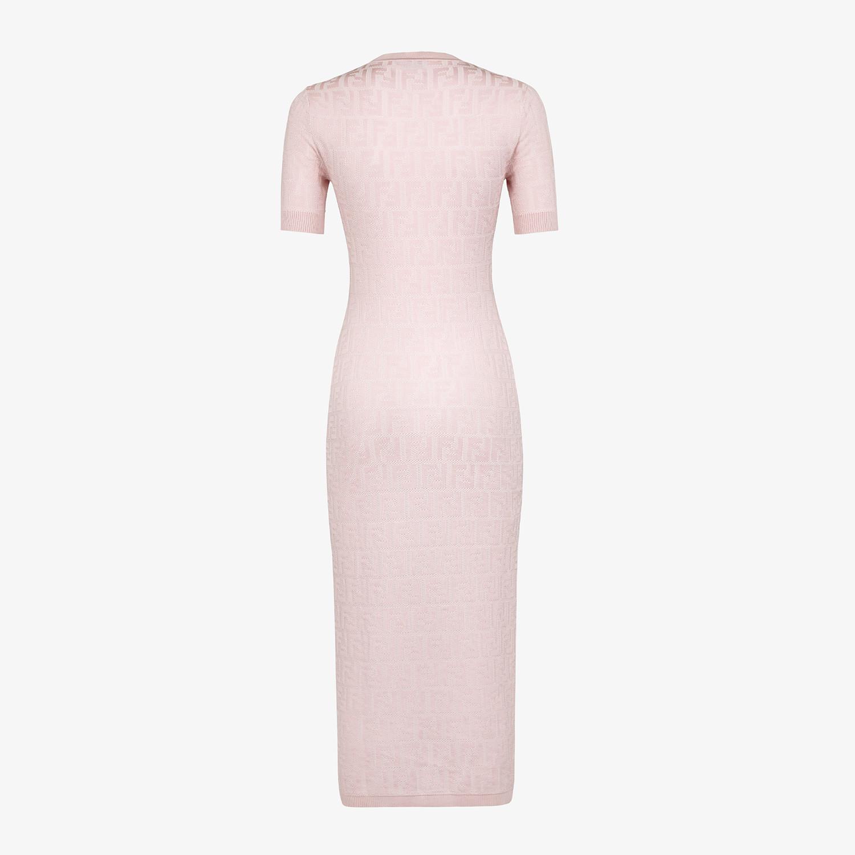 FENDI DRESS - Pink viscose and cotton dress - view 2 detail