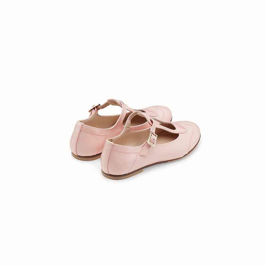 FENDI GIRL BALLERINAS - Pink patent leather chameleon ballerinas - view 3 detail