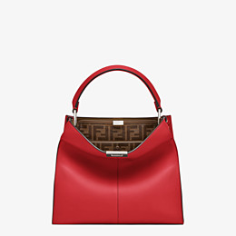 FENDI PEEKABOO X-LITE MEDIUM - Tasche aus Leder in Rot - view 3 thumbnail