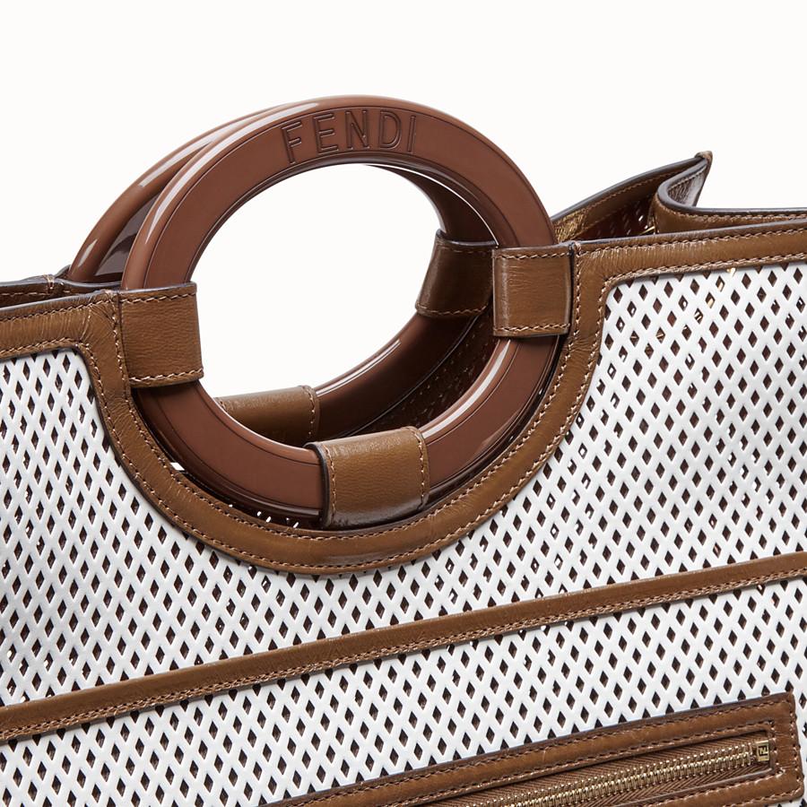 FENDI RUNAWAY SHOPPER - Shopper aus Leder in Weiß - view 6 detail