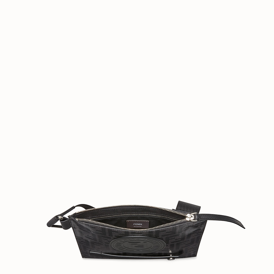 FENDI MESSENGER - Black fabric pochette - view 4 detail
