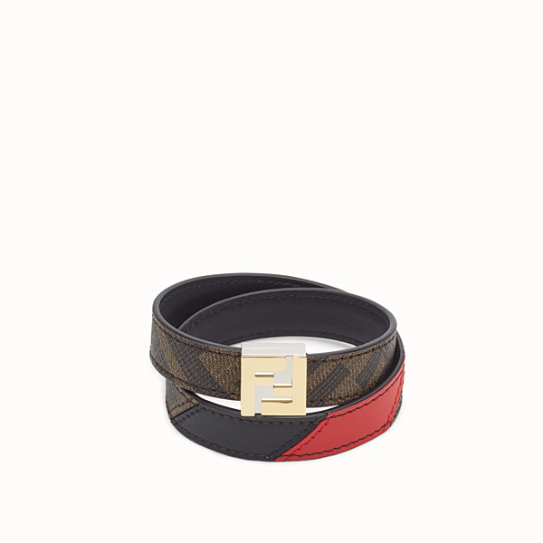 FENDI BRACELET - Brown fabric bracelet - view 1 small thumbnail