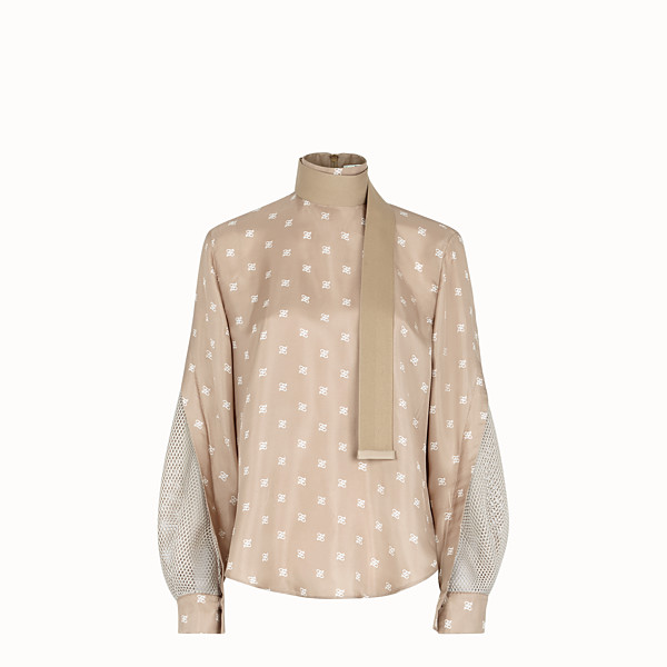 FENDI BLOUSE - Beige silk blouse - view 1 small thumbnail