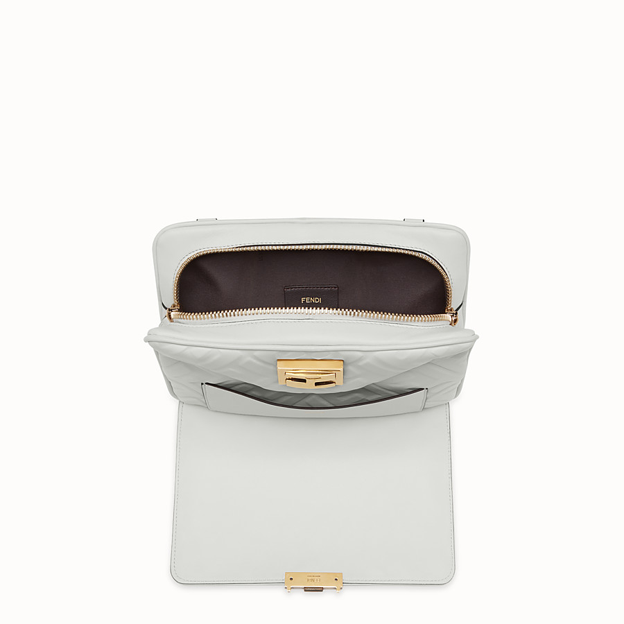 FENDI UPSIDE DOWN - White leather bag - view 4 detail