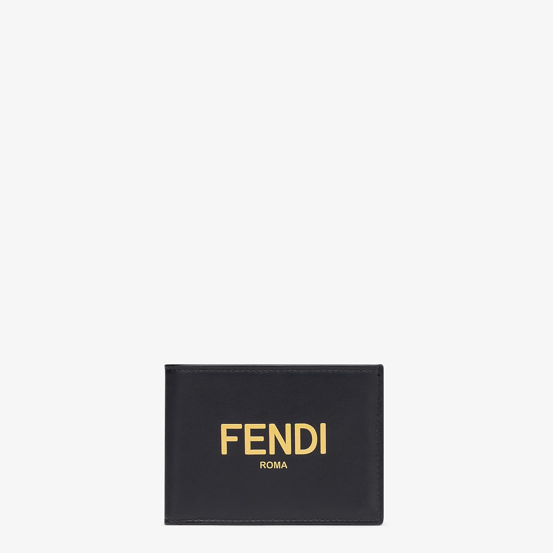 FENDI US DOLLAR WALLET - Black leather bi-fold wallet - view 1 detail