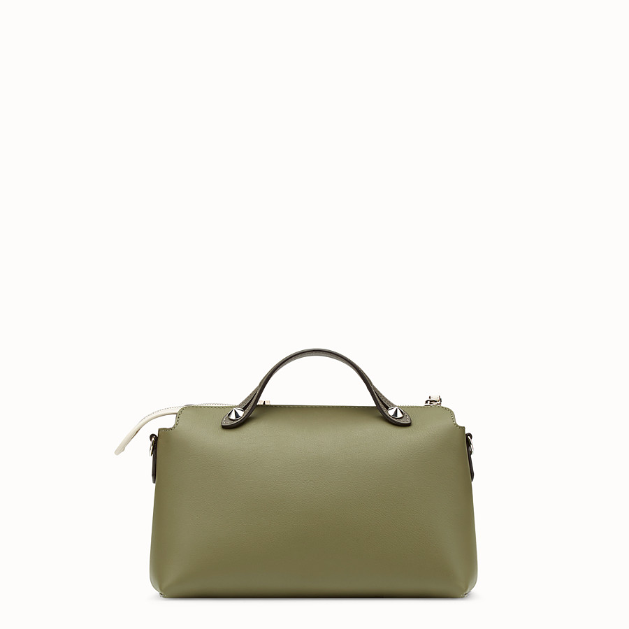 FENDI BY THE WAY REGULAR - Green leather Boston bag - view 3 detail