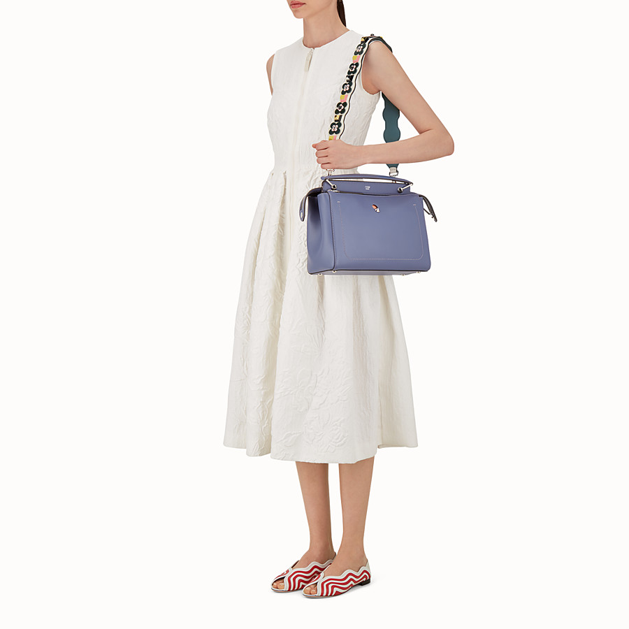 FENDI STRAP YOU - Shoulder strap in white leather with studs - view 3 detail