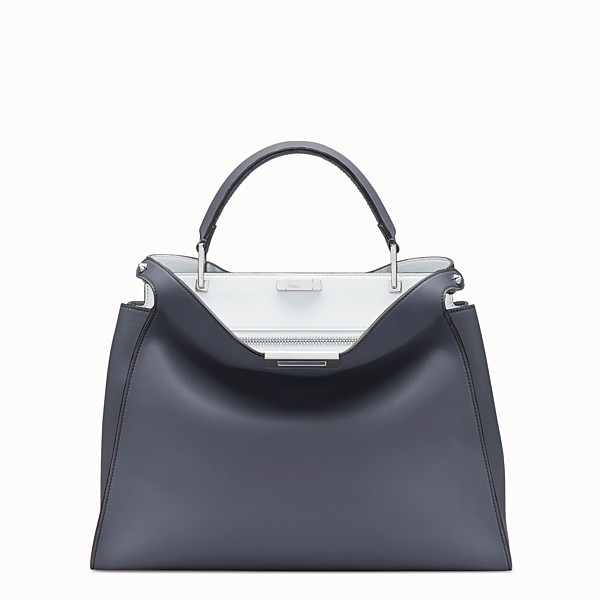 FENDI PEEKABOO ESSENTIAL - Borsa in pelle blu - vista 1 thumbnail piccola