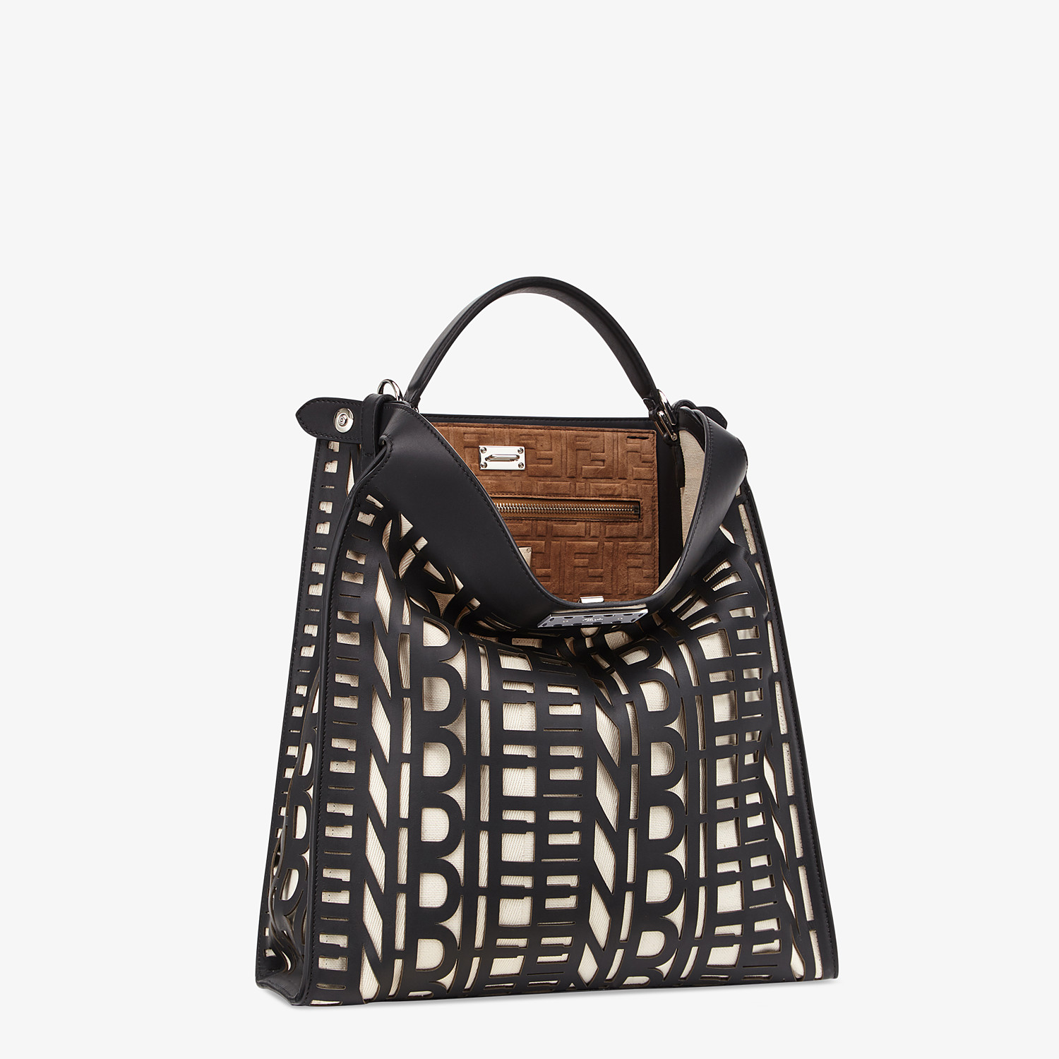FENDI PEEKABOO X-LITE FIT - Black leather bag - view 3 detail