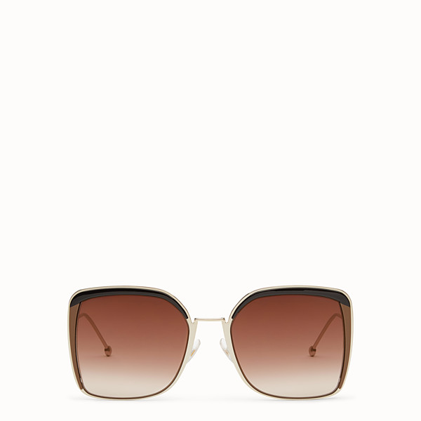 FENDI F IS FENDI - Gold-color sunglasses - view 1 small thumbnail