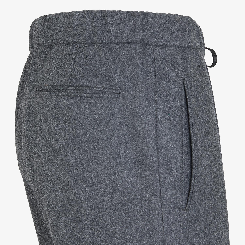 FENDI PANTS - Gray wool pants - view 3 detail