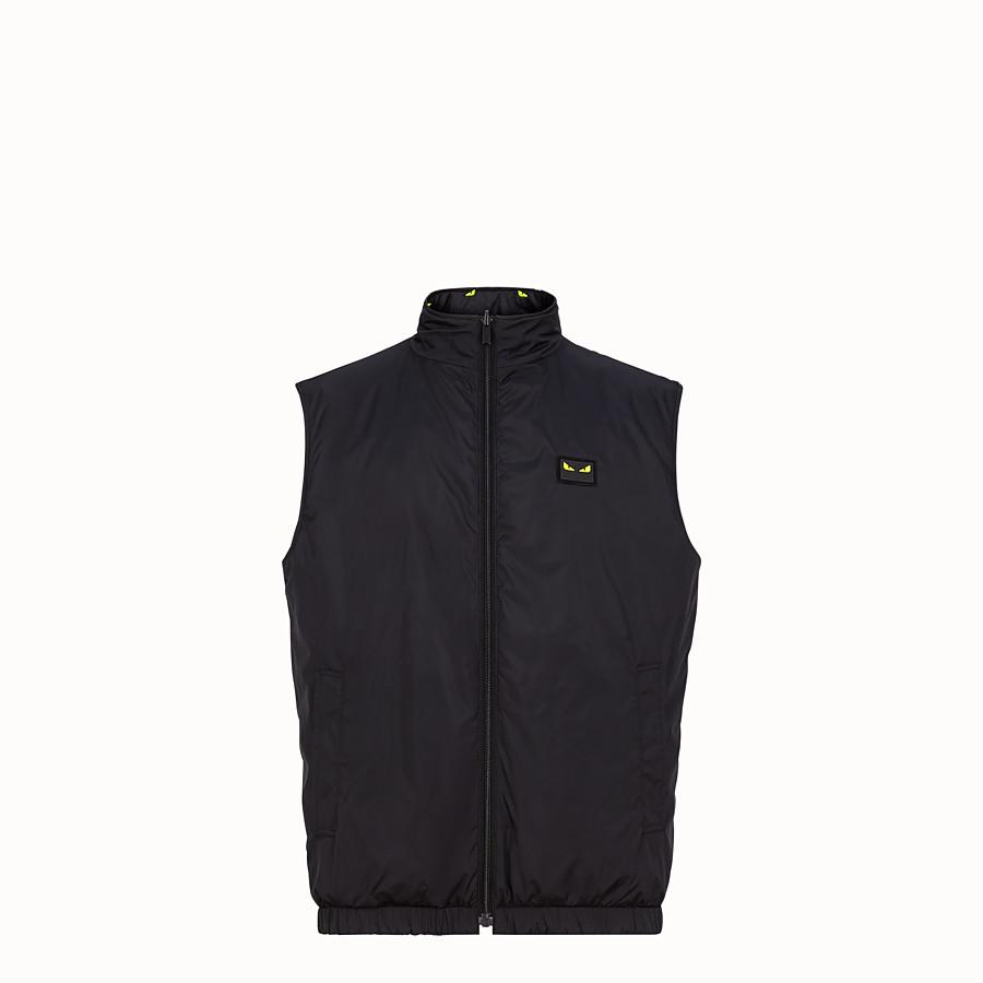 FENDI VEST - Black nylon vest - view 4 detail