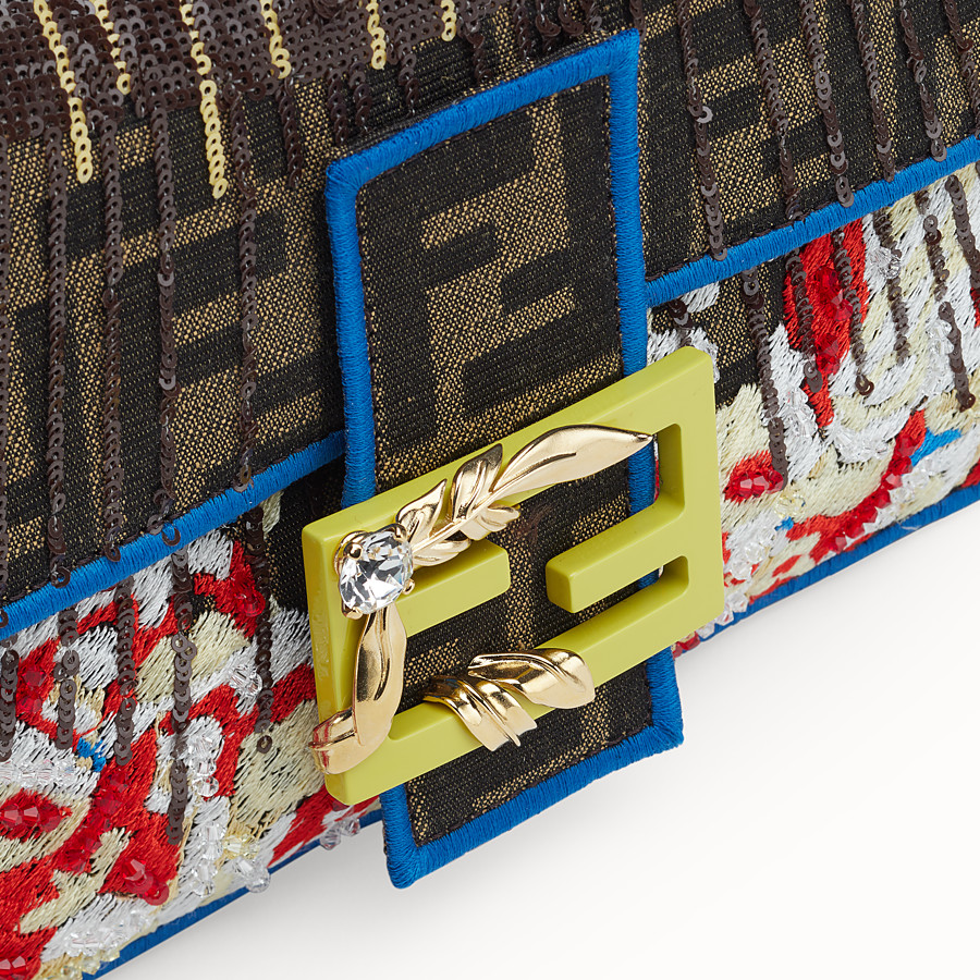 FENDI BAGUETTE - Multicolor fabric bag - view 5 detail