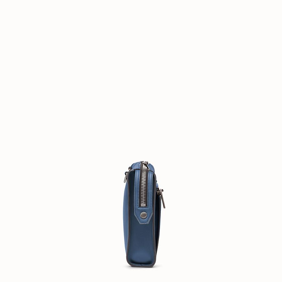 FENDI DOKUMENTENMAPPE - Tasche aus blauem Glattleder - view 2 detail