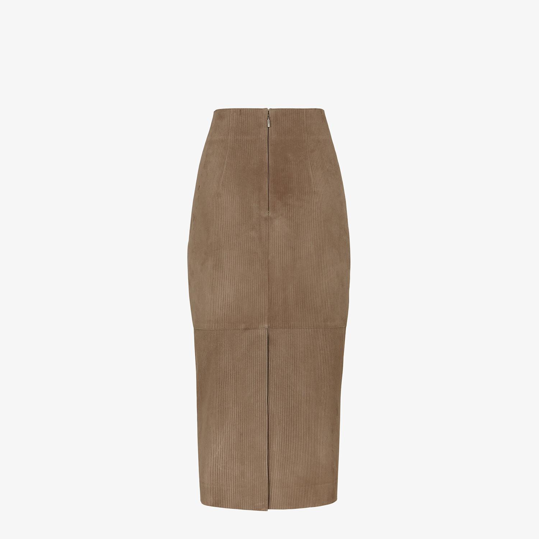 FENDI SKIRT - Brown suede skirt - view 2 detail