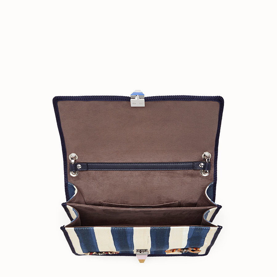 FENDI KAN I - Bag in striped fabric and bows - view 4 detail
