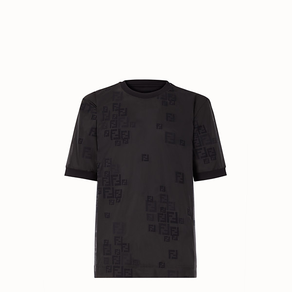 FENDI T-SHIRT - Black organza T-shirt - view 1 small thumbnail