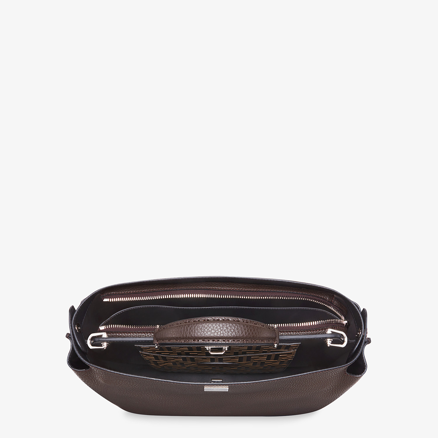 FENDI PEEKABOO ICONIC ESSENTIAL - Brown calfskin bag - view 4 detail