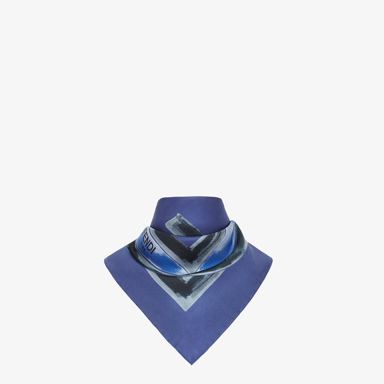 FENDI F IS FENDI FOULARD - Blue silk foulard - view 2 detail