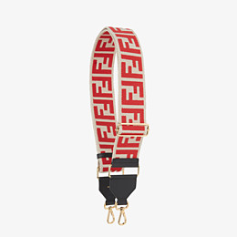 FENDI STRAP YOU - White canvas shoulder strap. - view 1 thumbnail
