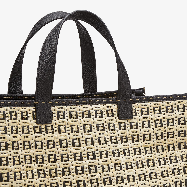 FENDI SHOPPER - Natural straw bag - view 5 detail